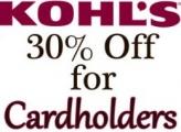 콜스 (Kohl's) 카드멤버 30% 할인