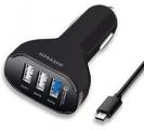 KMASHI 퀵차지 2.0 39W 3 포트 USB 차량용 충전기