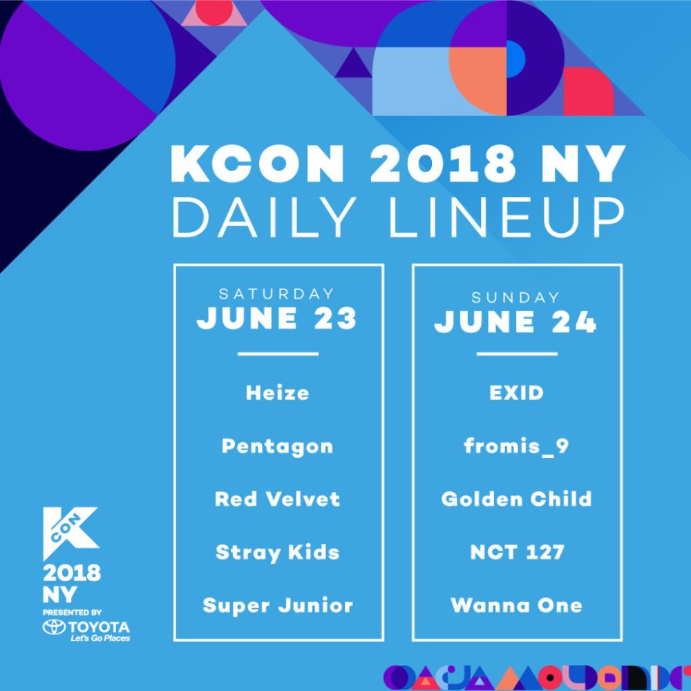 kcon ny lineup