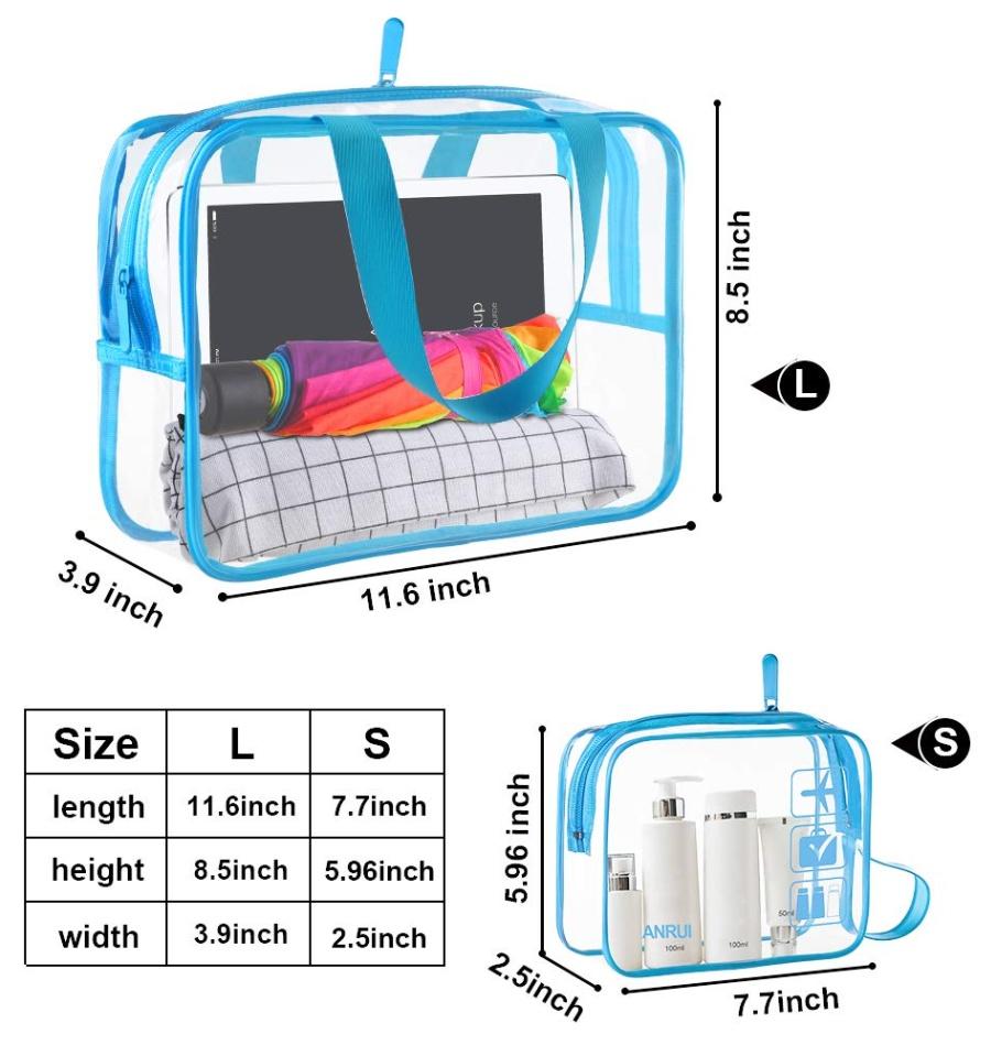 기내반입 TSA 투명 비닐 지퍼백