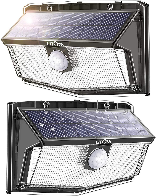 Litom 300 led 무선 태양광 아웃도어 센서등