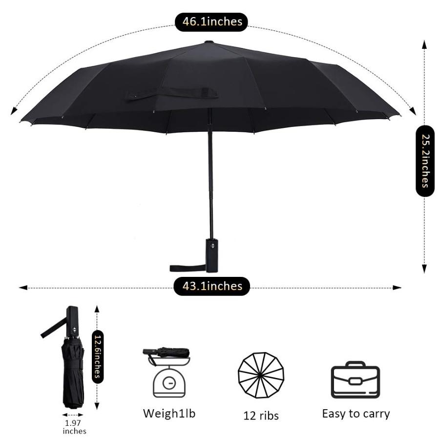 테프론 튼튼한 자동 우산