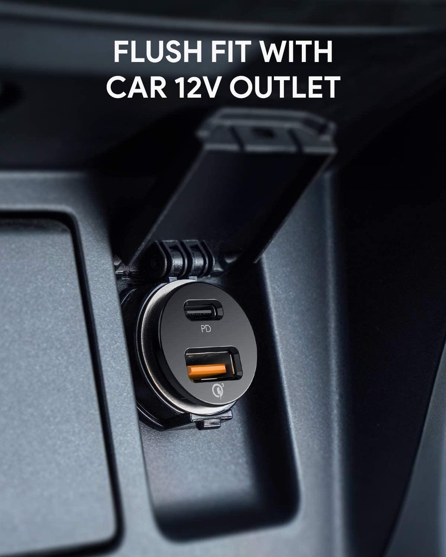 AUKEY 퀵차지 3.0 USB 듀얼 포트 차량용 충전기
