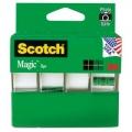 스카치 (Scotch) 테이프 3/4인치. x 300인치, 4개 팩