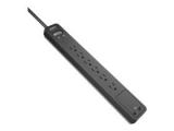APC 서지어레스터 6구 + 2 USB 충전 포트 서지 보호기 멀티탭 (PE...