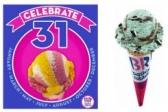 베스킨라빈스 아이스크림 1스쿱에 $1.50 (5월 31일 하루)