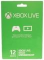 Xbox Live 12개월 골드 멤버십 카드