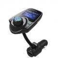 LeFun 차량용 블루투스 + FM 트랜스미터 + 충전 + 핸즈프리 (2개)