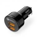 AUKEY CC-T8 퀵차지 3.0 USB 듀얼 포트 차량용 충전기