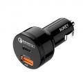 AUKEY USB C, 퀵차지 3.0 USB 듀얼 포트 차량용 충전기
