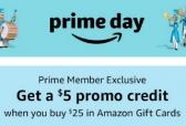 (프라임데이 딜) 아마존 $25 기프트카드 구매시 $5 크레딧줍니다