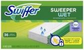 스위퍼 (Swiffer) Wet 바닥 청소 젖은 걸레 리필패드, 36장 (프라...