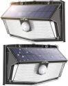 Litom 300 led 무선 태양광 아웃도어 센서등 (2개 팩)