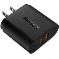 AUKEY 퀵차지 3.0 듀얼 포트 USB 충전기 (핸드폰, 태블릿, 여러 ...