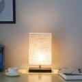 ZEEFO Wood and Fabric Shade 램프