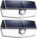 Litom 120 led 무선 태양광 모션감지 센서등 (2개 팩)