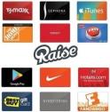 Raise에서 기프트카드들 10% 할인코드