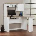Mainstays L자형 책상 (White/Sonoma Oak 색상)