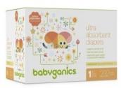베이비가닉스 (Babyganics) 기저귀 (사이즈 1, 4) (YMMV)