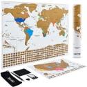 (아마존 중복할인) 스크래치 맵/ 세계지도, 여행 발자취