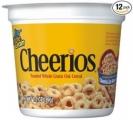 치리오스 (Cheerios) 시리얼 1.3 oz, 12개 팩 (애드온)