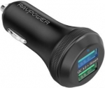 RAVPower 퀵차지 3.0 듀얼 포트 40W USB 차량용 충전기
